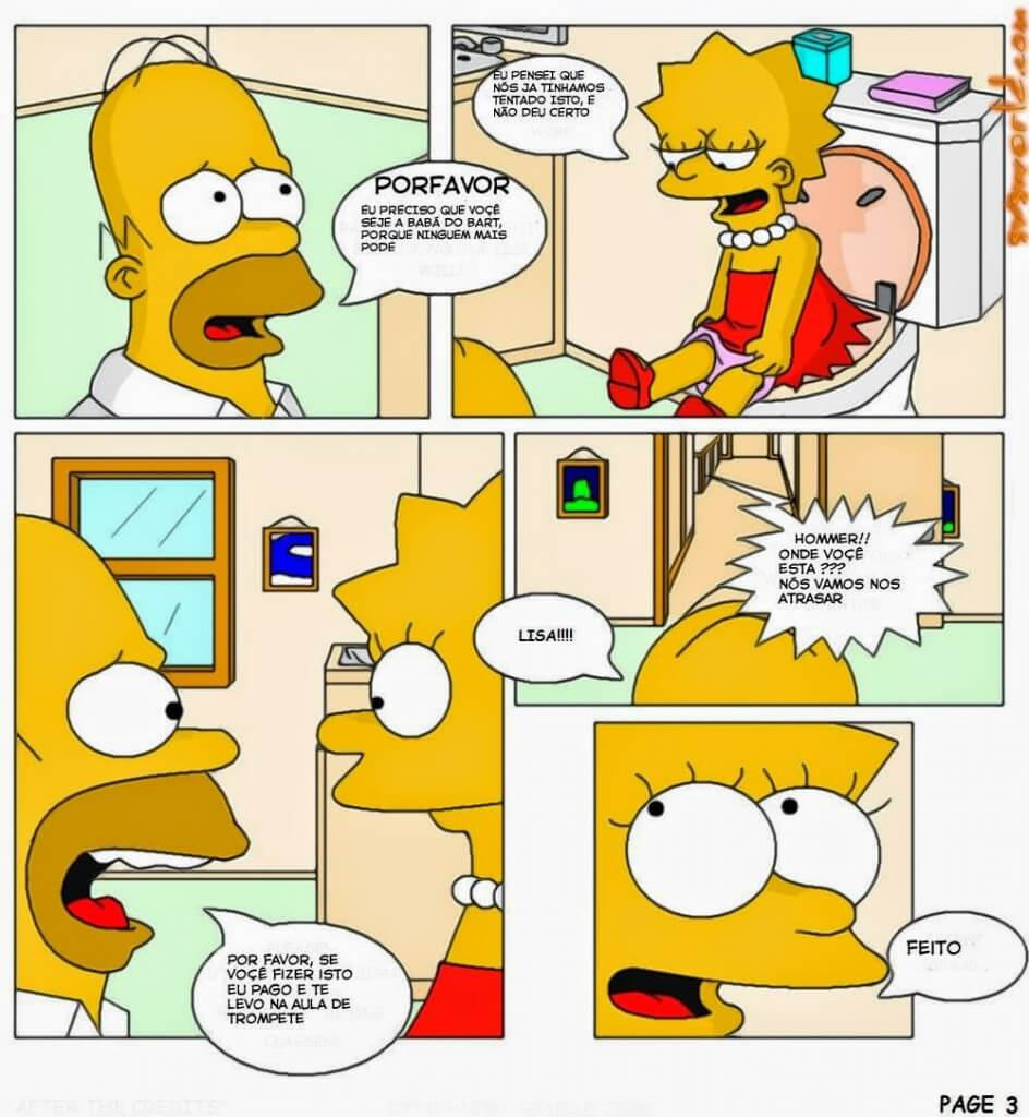 Hentai Os Simpsons Bart Comendo a Lisa