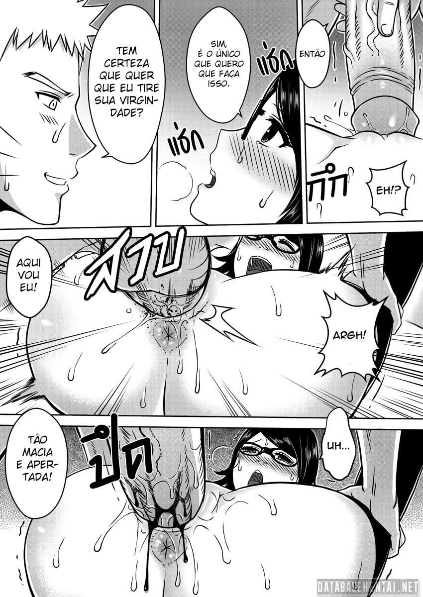 Naruto comendo a Sarada